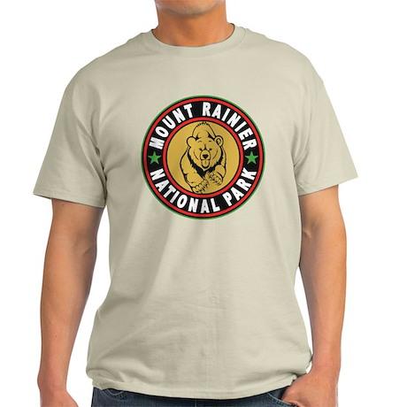 Mt Rainier Black Circle Light T-Shirt