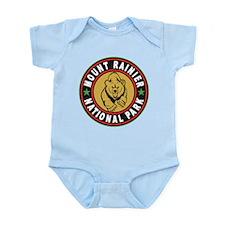 Mt Rainier Black Circle Infant Bodysuit