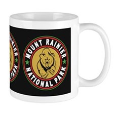 Mt Rainier Black Circle Mug