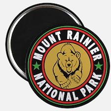 Mt Rainier Black Circle Magnet