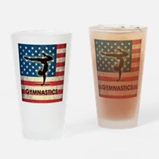 Grunge USA Gymnastics Drinking Glass
