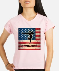Grunge USA Gymnastics Performance Dry T-Shirt