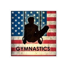 "Grunge USA Gymnastics Square Sticker 3"" x 3"""