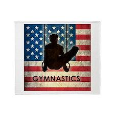 Grunge USA Gymnastics Throw Blanket