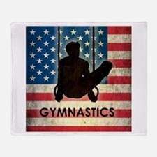 Grunge USA Gymnastics Throw Blanket