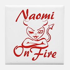 Naomi On Fire Tile Coaster
