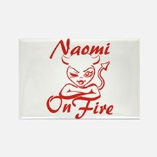 Naomi On Fire Rectangle Magnet