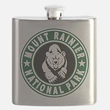 Mt Rainier Green Circle Flask