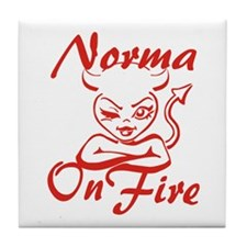 Norma On Fire Tile Coaster