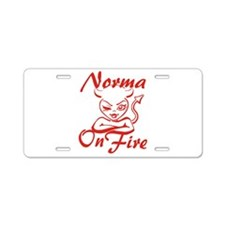 Norma On Fire Aluminum License Plate