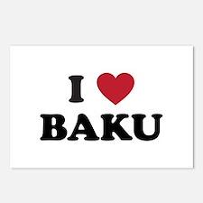 I Love Baku Postcards (Package of 8)