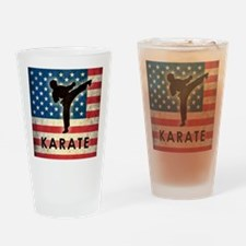 Grunge USA Karate Drinking Glass