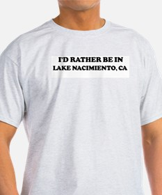 Rather: LAKE NACIMIENTO Ash Grey T-Shirt