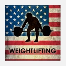 Grunge USA Weightlifting Tile Coaster
