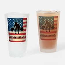 Grunge USA Weightlifting Drinking Glass