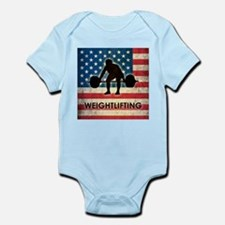 Grunge USA Weightlifting Infant Bodysuit