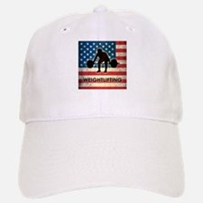 Grunge USA Weightlifting Baseball Baseball Cap