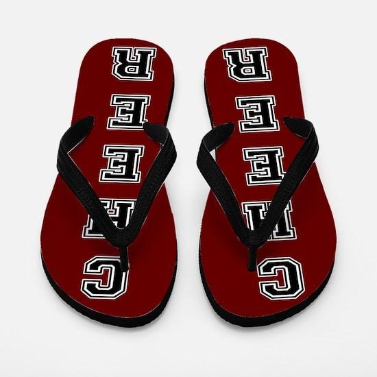 Cheer Red and black Flip Flops