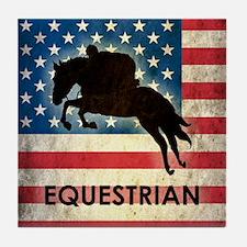 Grunge USA Equestrian Tile Coaster