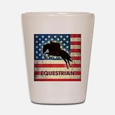 Grunge USA Equestrian Shot Glass