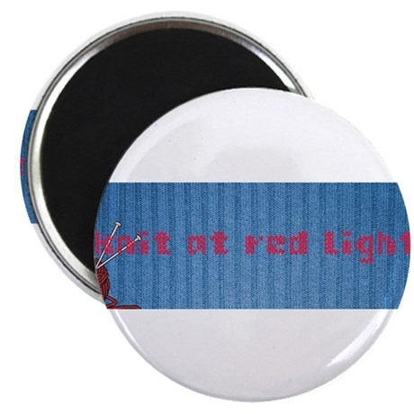 "I Knit At Red Lights 2.25"" Magnet (10 pack)"