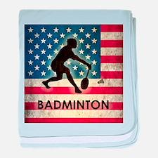 Grunge USA Badminton baby blanket
