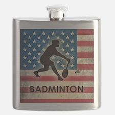 Grunge USA Badminton Flask