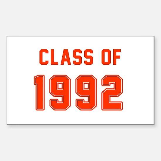 Class of 1992 Orange Decal