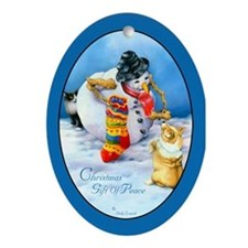 Corgi Oval Keepsake Christmas Ornament