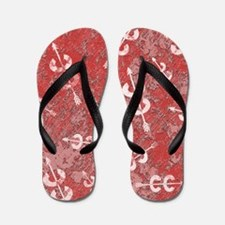 Runners Red Abstract Flip Flops