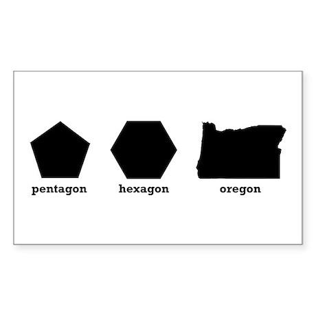 Polygon Oregon Sticker (Rectangle)