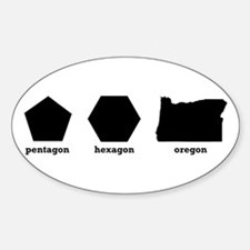 Polygon Oregon Sticker (Oval)