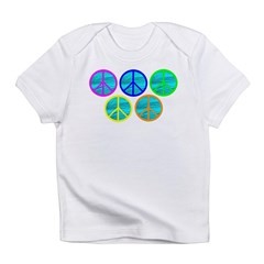 FIVE RINGS OF PEACE.psd Infant T-Shirt