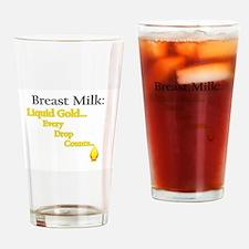 Liquid Gold Drinking Glass