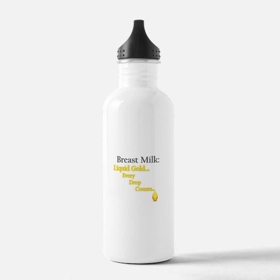 Liquid Gold Water Bottle