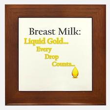 Liquid Gold Framed Tile