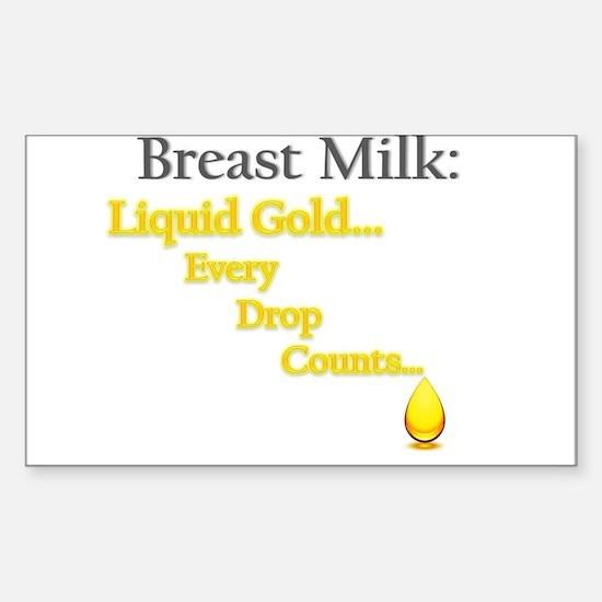 Liquid Gold Sticker (Rectangle)