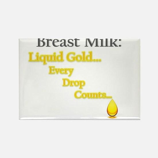 Liquid Gold Rectangle Magnet