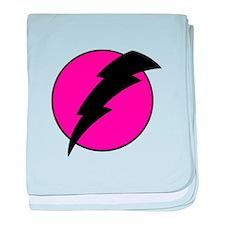 Flash Bolt Pink Lightning baby blanket