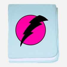 Flash Bolt Pink Lightning baby blanket