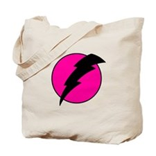 Flash Bolt Pink Lightning Tote Bag