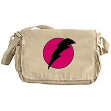 Flash Bolt Pink Lightning Messenger Bag
