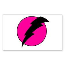 Flash Bolt Pink Lightning Decal