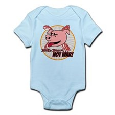 Make Bacon not War! Infant Bodysuit