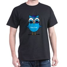 Custom Blue Owl Branch T-Shirt