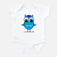 Custom Blue Owl Branch Infant Bodysuit