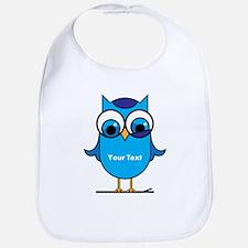 Custom Blue Owl Branch Bib