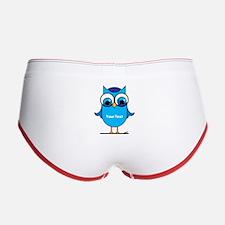 Custom Blue Owl Branch Women's Boy Brief