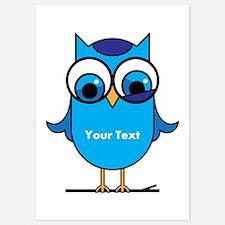 Custom Blue Owl Branch Invitations