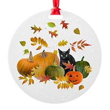 Black Cat Pumpkins Ornament